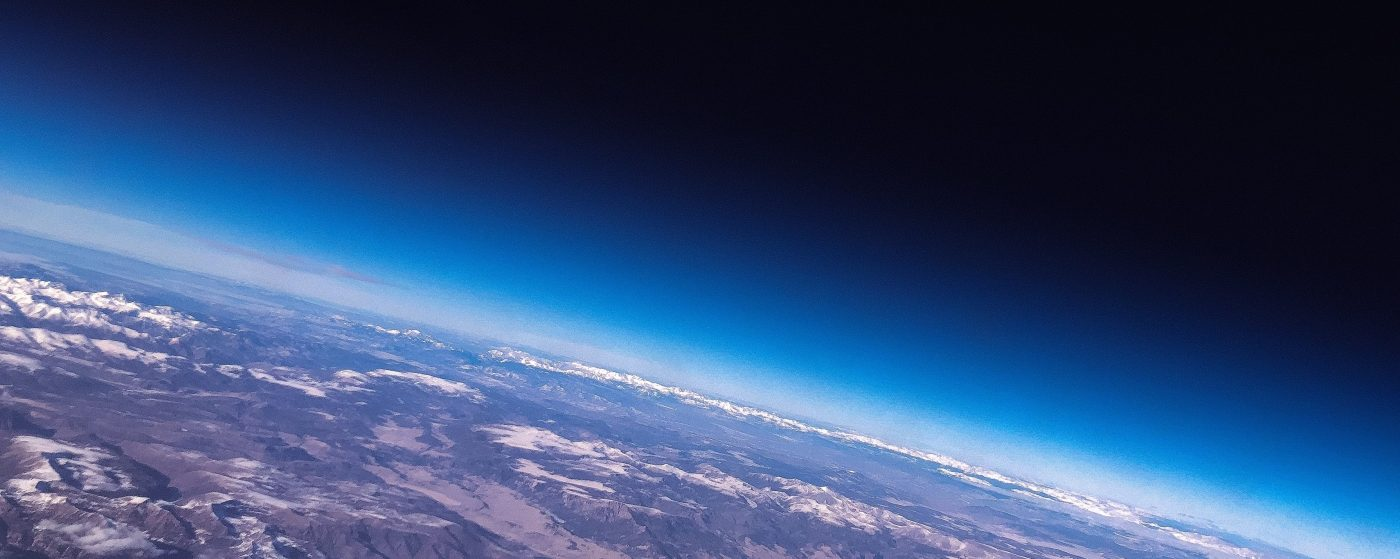 Photo of planet earth horizon as seen from space