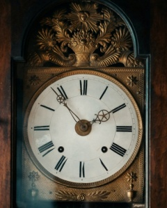 Face of Grandfather clock
